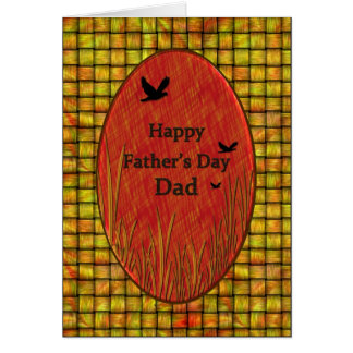Father's day Dad - Bambo/Birds Greeting Card