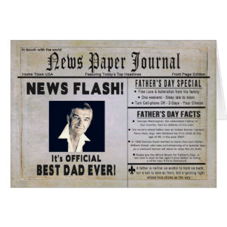 Father's Day - Dad - News Journal - Photo Insert Card