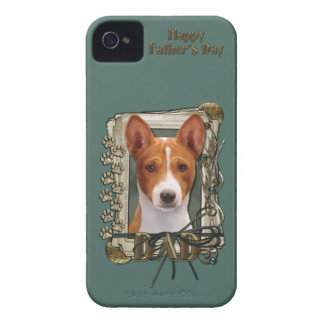 Fathers Day DAD - Stone Paws - Basenji iPhone 4 Case