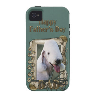 Fathers Day DAD - Stone Paws - Bedlington Terrier iPhone 4/4S Case