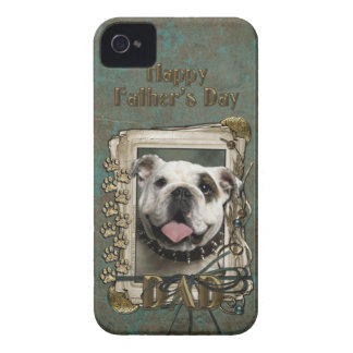 Fathers Day DAD - Stone Paws - Bulldog iPhone 4 Cover