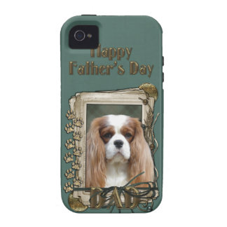 Fathers Day DAD - Stone Paws - Cavalier - Blenheim iPhone 4/4S Covers