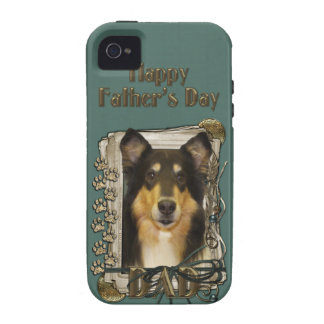 Fathers Day DAD - Stone Paws - Collie - Caroline Vibe iPhone 4 Cover