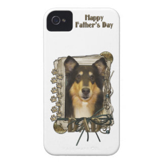 Fathers Day DAD - Stone Paws - Collie - Caroline Case-Mate iPhone 4 Case