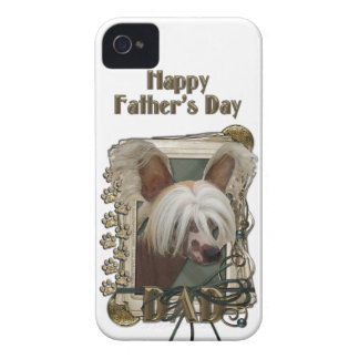 Fathers Day DAD - Stone Paws - Crestie - Jasper iPhone 4 Case-Mate Case