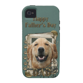 Fathers Day DAD Stone Paws Golden Retriever Mickey Case-Mate iPhone 4 Covers