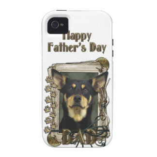 Fathers Day DAD - Stone Paws - Kelpie - Jude iPhone 4 Covers