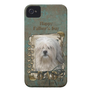 Fathers Day DAD - Stone Paws - Lowchen iPhone 4 Cover
