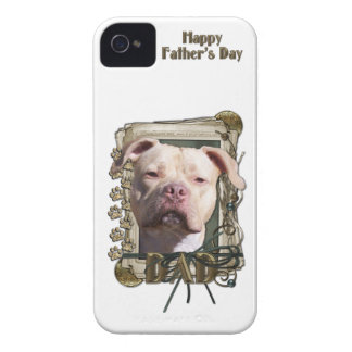 Fathers Day DAD Stone Paws - Pitbull - Jersey Girl iPhone 4 Cases
