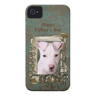 Fathers Day DAD - Stone Paws - Pitbull Puppy iPhone 4 Case-Mate Case