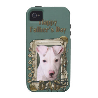Fathers Day DAD - Stone Paws - Pitbull Puppy iPhone 4 Cover
