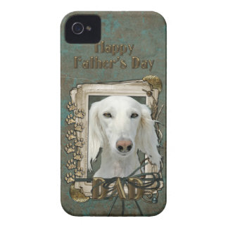 Fathers Day DAD - Stone Paws - Saluki iPhone 4 Case-Mate Cases