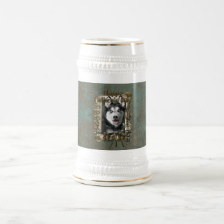 Fathers Day DAD - Stone Paws - Siberian Husky Beer Steins