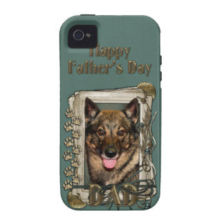 Fathers Day DAD - Stone Paws - Vallhund Case For The iPhone 4