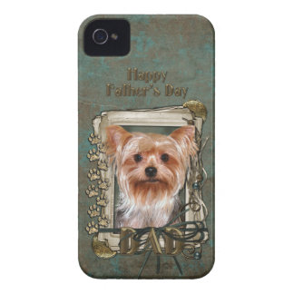Fathers Day DAD - Stone Paws - Yorkshire Terrier iPhone 4 Covers
