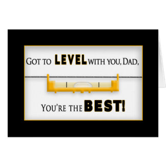 FATHER'S DAY - DAD - Tool - Level Card