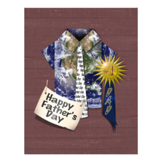 Father's Day - Dads Earth Shirt on Barn Background Custom Flyer