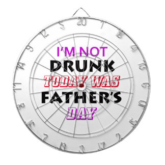 father's day design dartboard