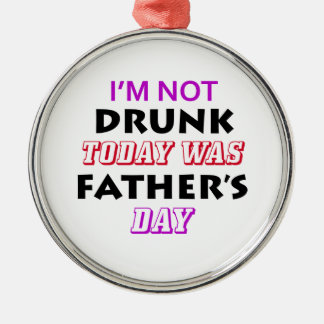 father's day design metal ornament