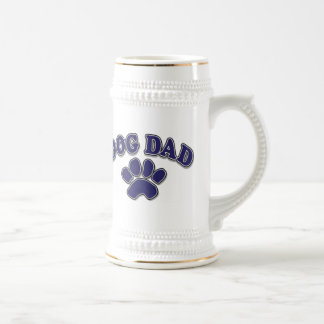 Father's Day dog Dad 18 Oz Beer Stein