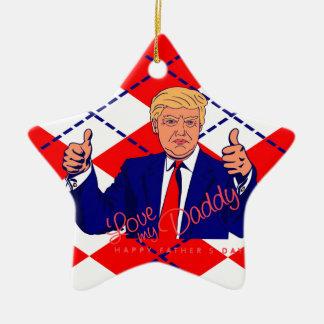 fathers day donald trump ceramic star ornament