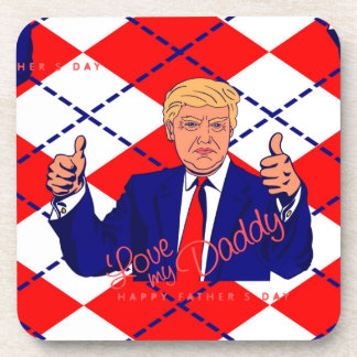 fathers day donald trump drink coaster