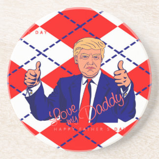 fathers day donald trump drink coasters