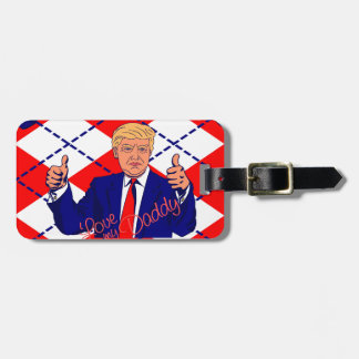 fathers day donald trump luggage tag