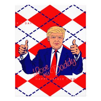 fathers day donald trump personalized letterhead