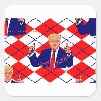 fathers day donald trump square sticker