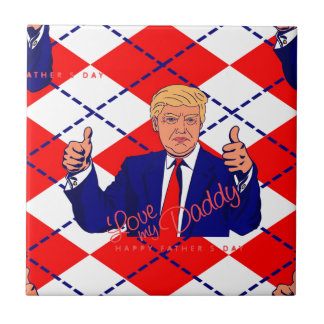 fathers day donald trump tile