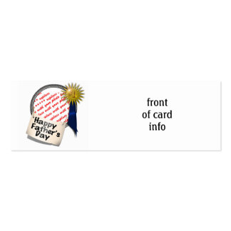 Father's Day First  Place Blue Ribbon For Any Dad Pack Of Skinny Business Cards