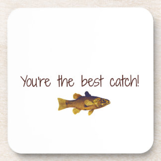 Father's Day Fishing You're The Best Catch Coasters