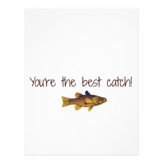 Father's Day Fishing You're The Best Catch Letterhead Design