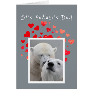 Father's Day Flirty Polar Bear Bucket of Fun Humor Card