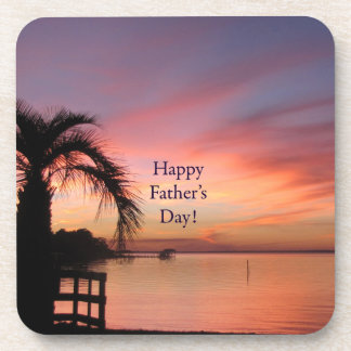 Fathers Day Florida Beach Sunset Coaster