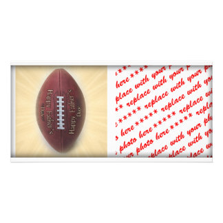 Father's Day Football Custom Photo Card
