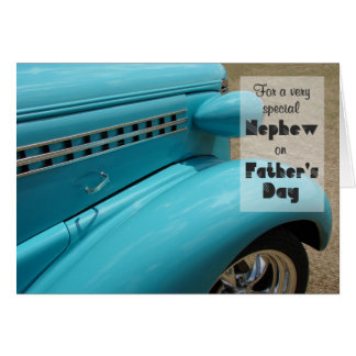 Father's Day for Nephew Hot Rod Humor Photo Note Card