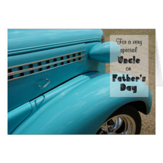 Father's Day for Uncle Hot Rod Humor Photo Note Card