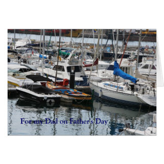 Father's Day - Funchal marina, Madeira Greeting Card