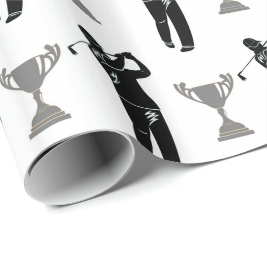 Father's Day Golf pattern party wrap