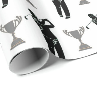 Father's Day Golf pattern party wrap Wrapping Paper