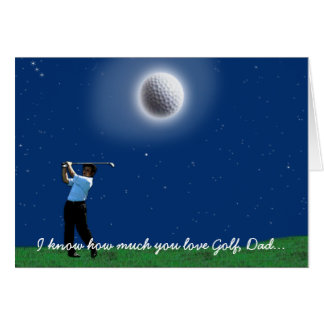 "Father's Day ""GOLFING ADDICT"" Greeting Card"