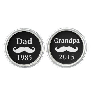 Father's Day Grandpa Grandparents Baby Birth Cufflinks