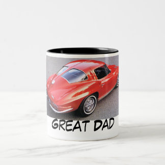 Father's Day Great Dad Two-Tone Coffee Mug