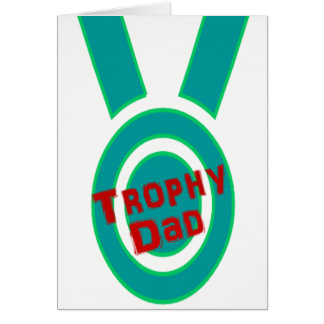 Father's Day Greeting Card Trophy Super Winner Dad