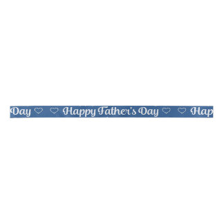 "Father's Day - ""Happy Father's Day"" Word Art Satin Ribbon"
