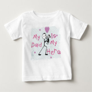 Father's Day Hero Dad Baby T-Shirt