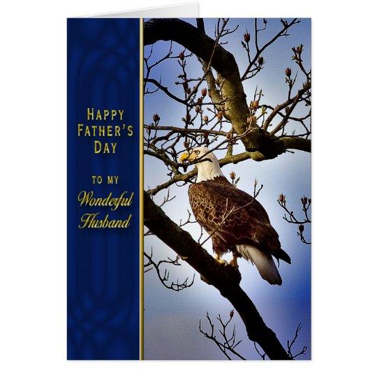 Father's Day - Husband - Bald Eagle Card