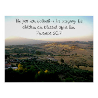 Father's Day Italy & Scripture Poster